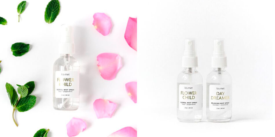 Clear face Mist with Rose Petals and Mint
