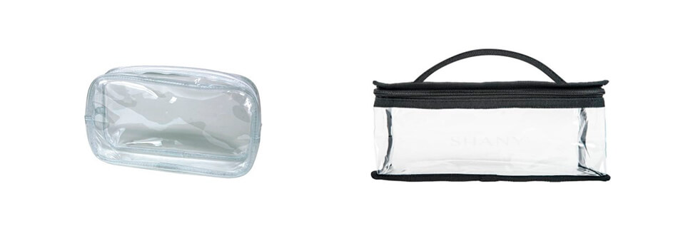 Clear Plastic Makeup Bags for Travel Skincare Essentials