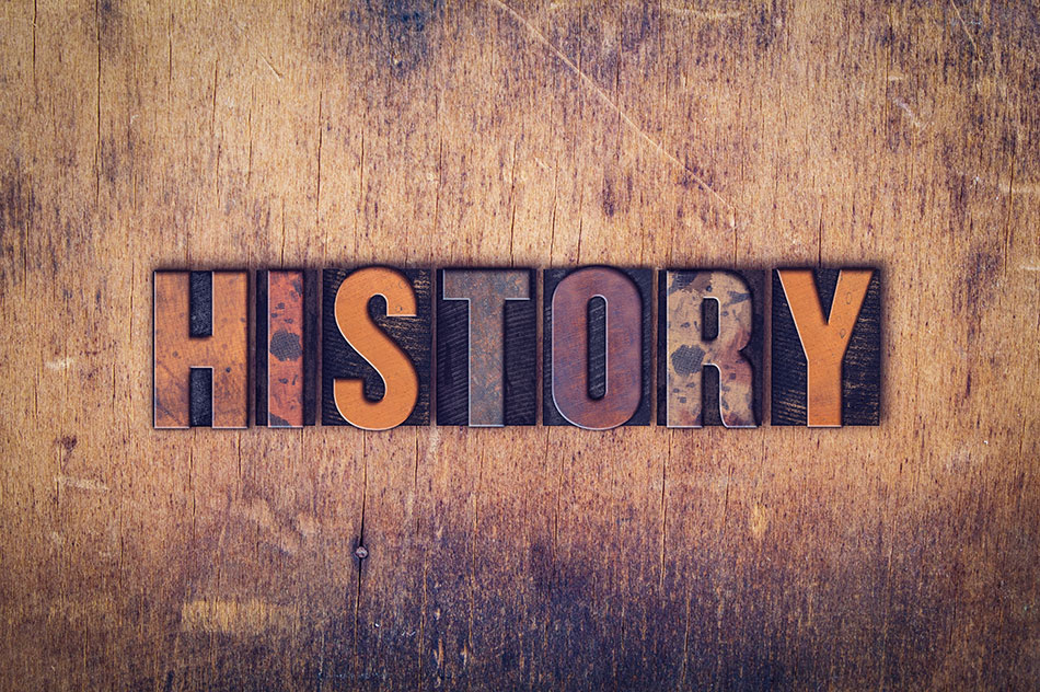 word history in wooden blocks