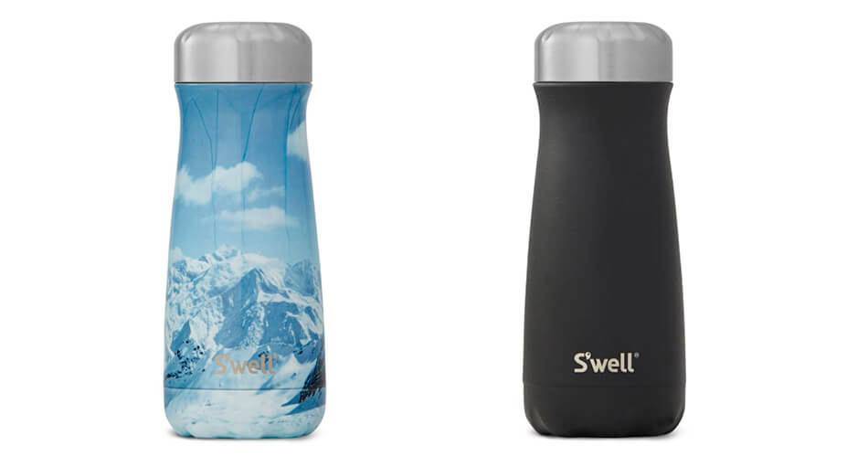 Black and Blue water bottles