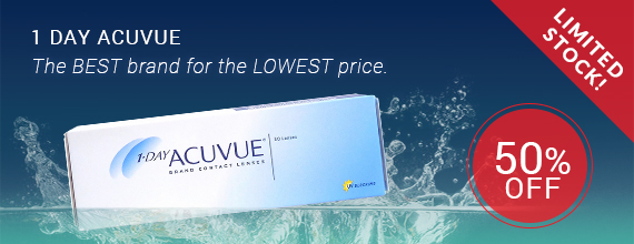 1 Day Acuvue 50% Off Plus Additional 15% Off Contact Lenses @ Perfectlens.ca