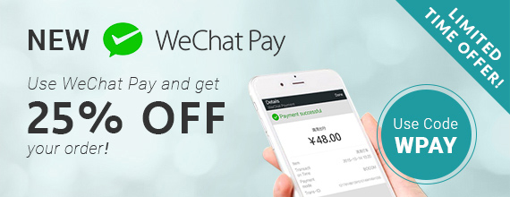 WeChat Pay 25% OFF