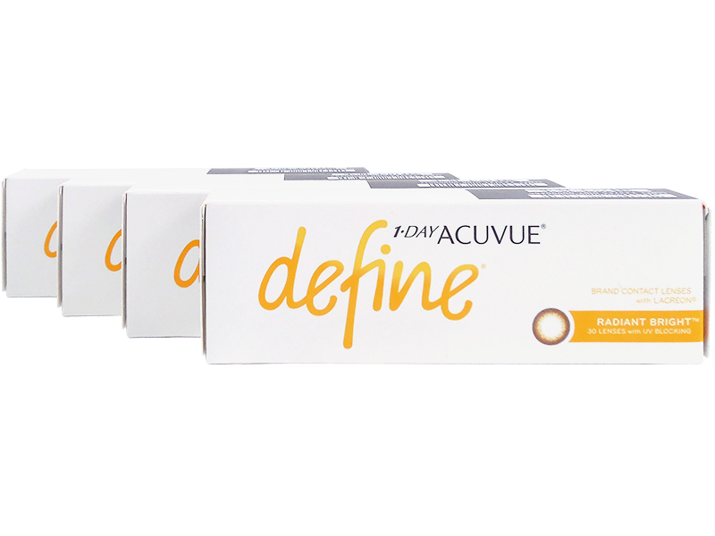 8af6d1c4e49 1 Day Acuvue Define Radiant Bright with LACREON 4-Box Pack (60 Pairs ...