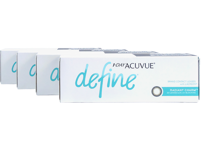 1 Day Acuvue Define Radiant Charm with LACREON 4-Box Pack (60 Pairs)