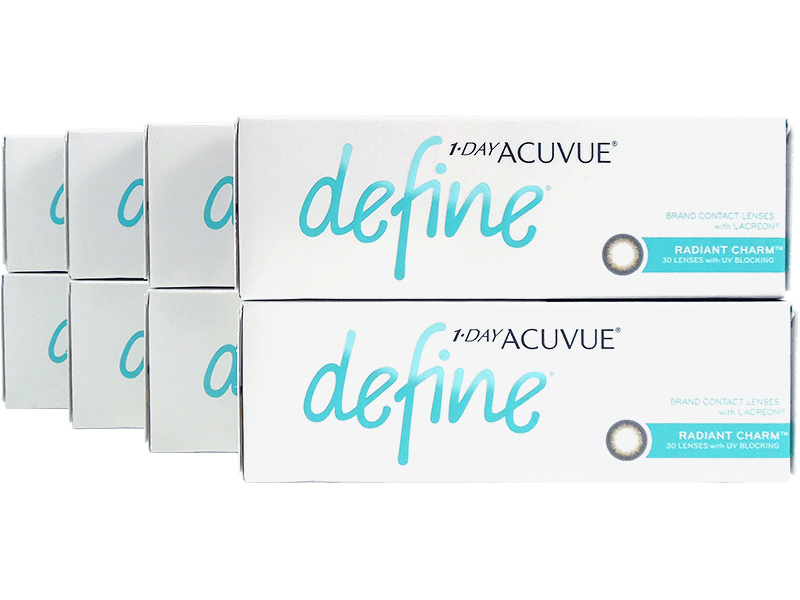 1 Day Acuvue Define Radiant Charm with LACREON 8-Box Pack (120 Pairs)