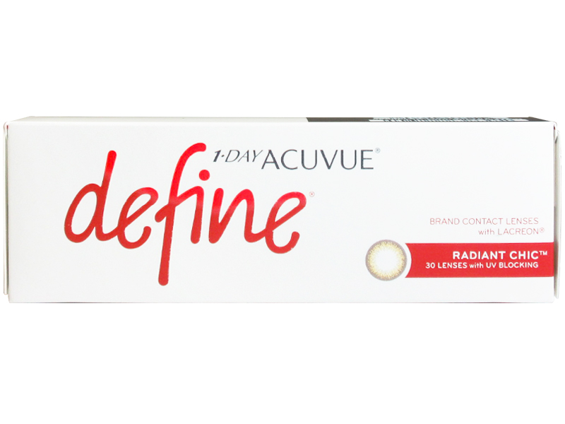 1day Acuvue Define Moist Radiant Chic with LACREON