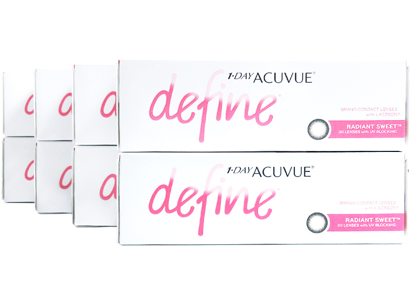 1 Day Acuvue Define Radiant Sweet with LACREON 8-Box Pack (120 Pairs)