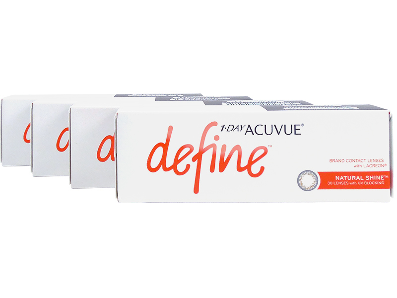 1 Day Acuvue Define Natural Shine with LACREON 4-Box Pack (60 Pairs)