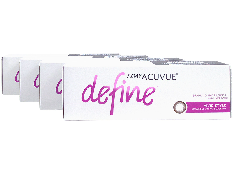 7b617a822f2 1 Day Acuvue Define Vivid Style with LACREON 4-Box Pack (60 Pairs ...