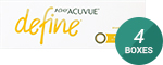 1 Day Acuvue Define Radiant Bright with LACREON 4-Box Pack (60 Pairs)