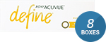 1 Day Acuvue Define Radiant Bright with LACREON 8-Box Pack (120 Pairs)