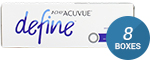 1 Day Acuvue Define Accent Style with LACREON 8-Box Pack (120 Pairs)